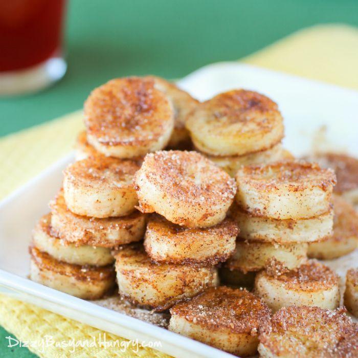 Pan frito plátanos canela | DizzyBusyandHungry.com - Rápido y fácil receta de plátanos demasiado maduros, ideal para un desayuno especial o una merienda!