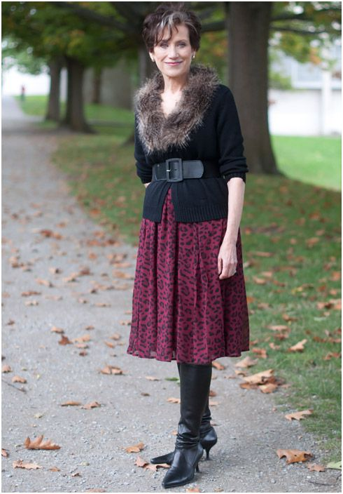 Beautiful AUTUMN LOOK IN LEATHER BOOTS AND LEOPARD | Leopards ...