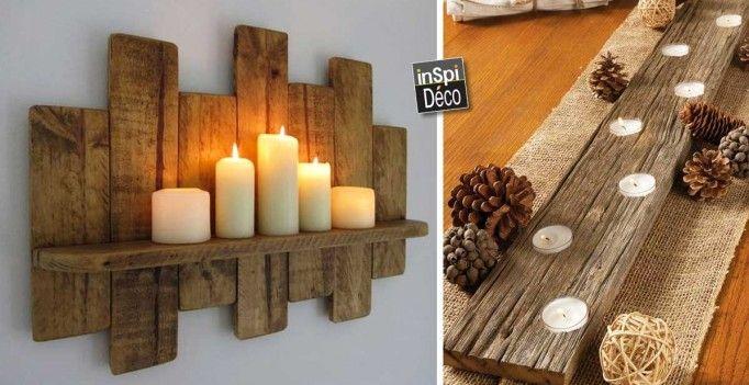 Voici 20 idées déco avec bougies et palettes. Nous vous avons sélectionné aujourd'hui, 20 idées pour réaliser de superbes décorations avec des bougies et ...