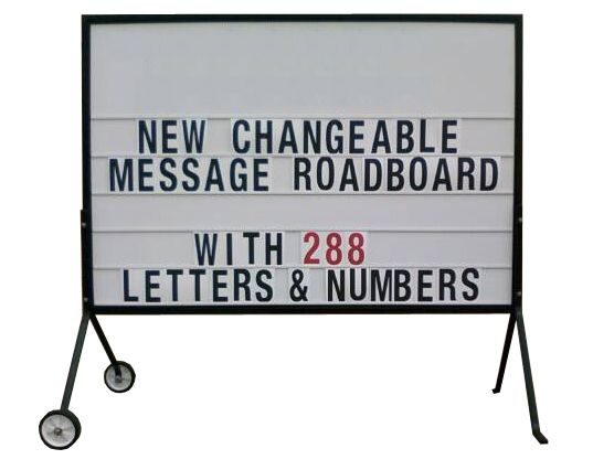 NEW CHANGEABLE MESSAGE ROAD BOARD #A-Board #Creationsgroup