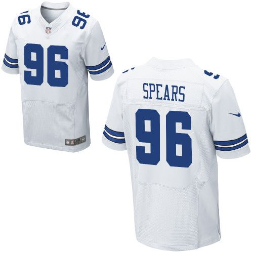 Men Nike Dallas Cowboys Marcus Spears Elite 96 White Jersey for Sale Sale