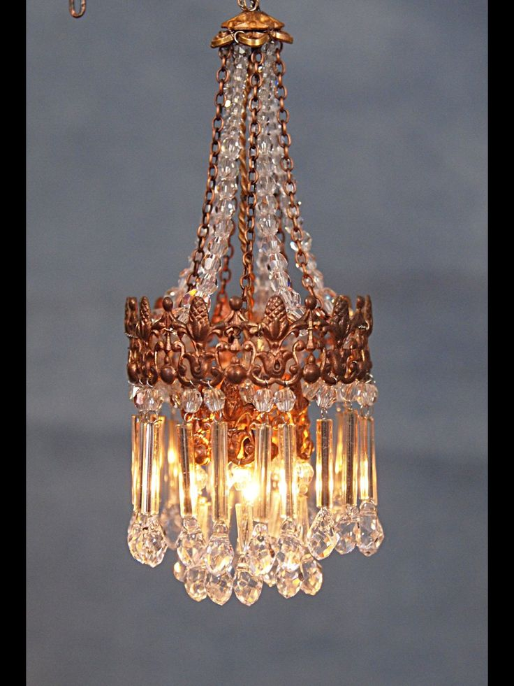 Beautiful Miniature Chandelier By Cilla Hallbert Minst