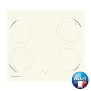 Continental Edison CETI42BW Table de cuisson induction-4 zones-6500W-L59xP52cm-Revêtement verre-Blanc - Achat / Vente plaque induction - Cdiscount
