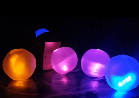 Glowing Beach Balls Beaches Glow And Beach Ball
