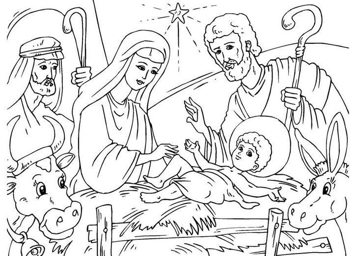 Ausmalbilder über Jesus Ausmalbilder Jesus geburt Ausmalen