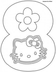 hello kitty number 8 trace worksheet
