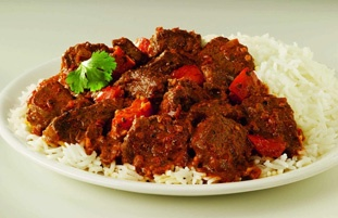 Lamb Rogan Josh - my favourite curry. I usually have it with mushroom pilau rice.