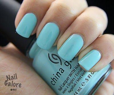 love this Tiffany blue! #nails #nailpolish #pastels #nailcolor
