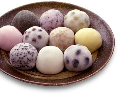 """Daifuku (meaning """"good luck"""" in Japanese) is handmade using Japanese flour. Apparently, it takes the chefs around four hours to make a batch of forty pieces, available in four flavours — strawberry, matcha (green tea), mango and durian."""