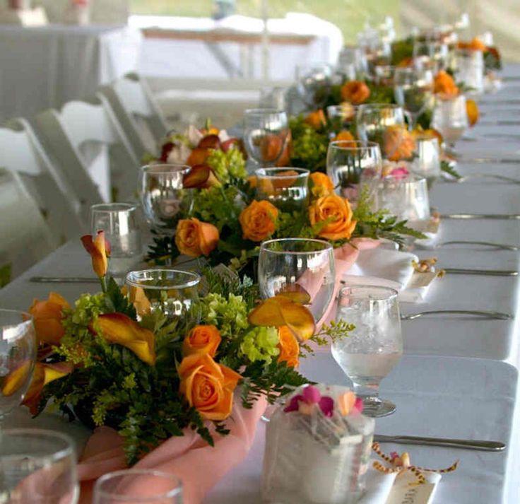 Hawaiian Wedding Reception Centerpieces Wedding Organizer Rina
