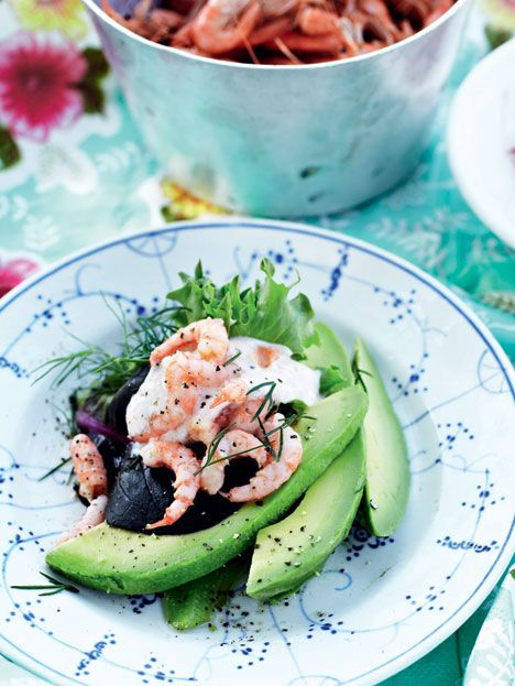 A Classic - avocado and shrimps - just in a new way.