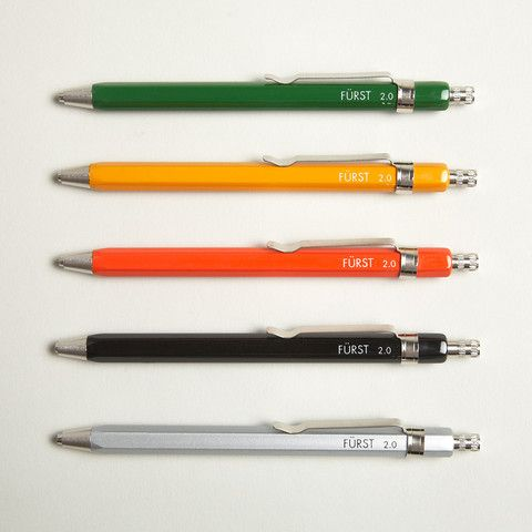 Fürst aluminum drafting pencils - 2.0 mm.