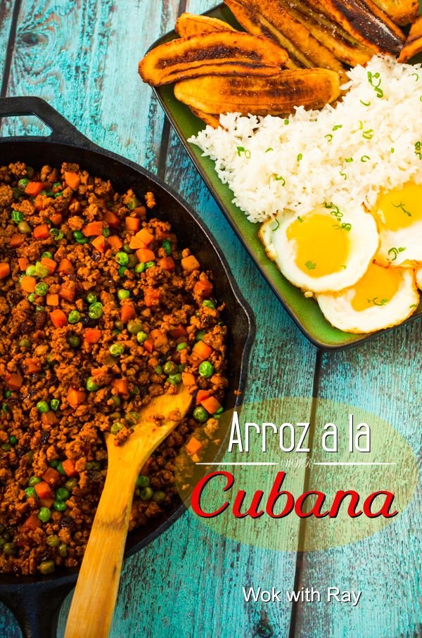 "Arroz a la Cubana or what my parents liked to call, ""Plato Cubano,"" is a combination of what we usually describe dishes as savory and sweet. It is a down-to-earth, hearty comfort food."