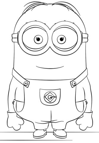 Minion Dave Coloring Page From Minions Category Select 24652 Printable Crafts Of Cartoons