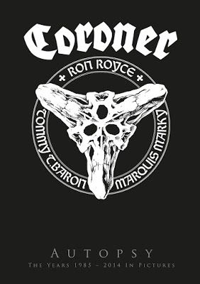 "Coroner - ""Autopsy - The Years 1985 - 2014 in Pictures"" Review - World Of Metal"