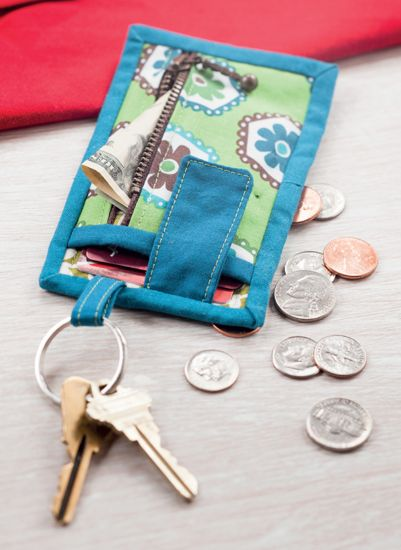 When giving a gift card seems impersonal - this cute Card and Key Wallet will add a thoughtful touch.