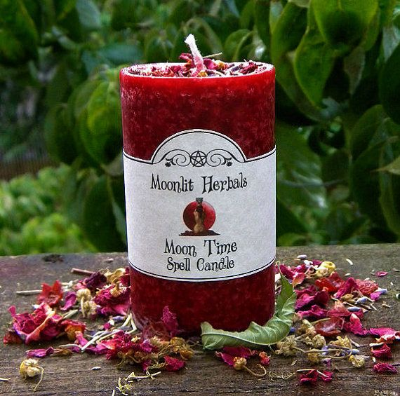 Moon Time Pillar Spell Candle - Feminine Power, Invoking the Goddess, Raising Energy, Boosting Magickal Workings, Empowering, Intuition on Etsy, $9.75