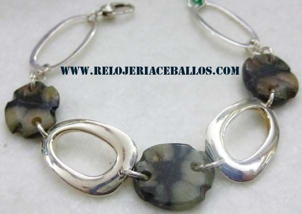 pulsera de plata con quiastolita