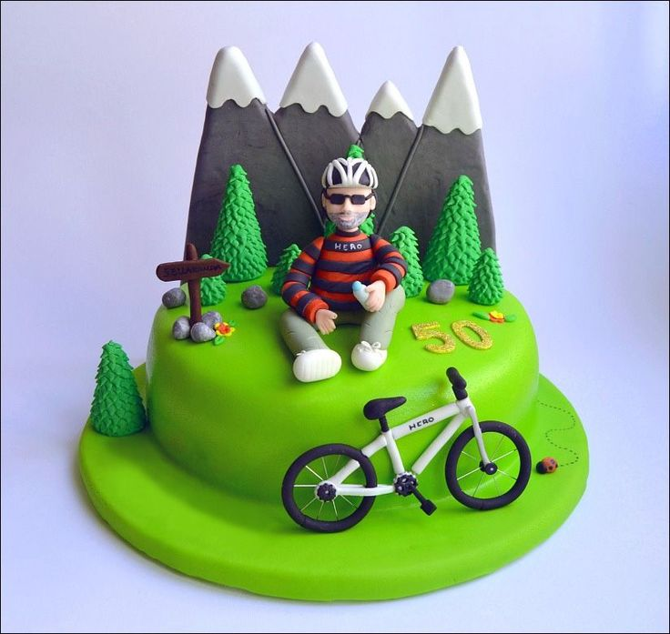 Cycling Birthday Cake Decorations