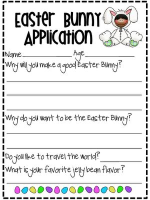 Application to be the Easter Bunny -Free!
