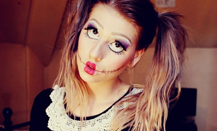 Doll Halloween Makeup and Costume Ideas