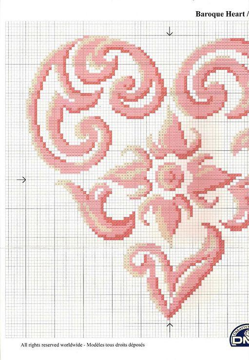 delicate heart x-stitch