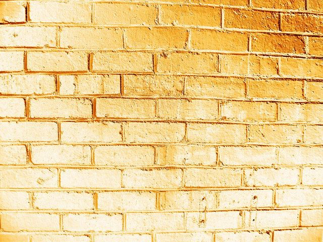Color Dorado Gold Gold Brick Wall By Theclutterbells