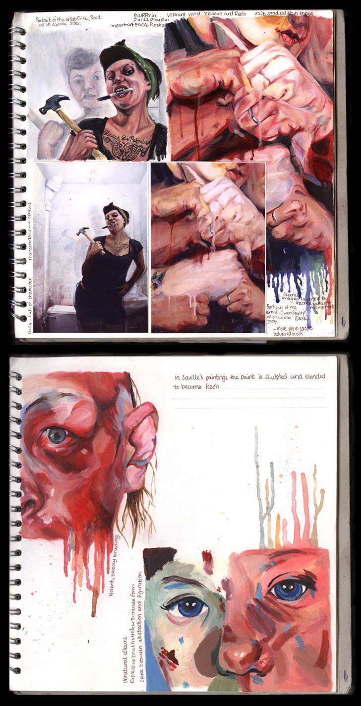 A Level Art sketchbook (100%)
