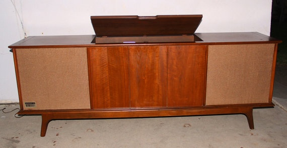 1960s Record Player Cabinet   Bar Cabinet