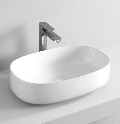 COGNAC countertop washbasin #TheArtceram  #bathroom #design - Thin-rim washbasins