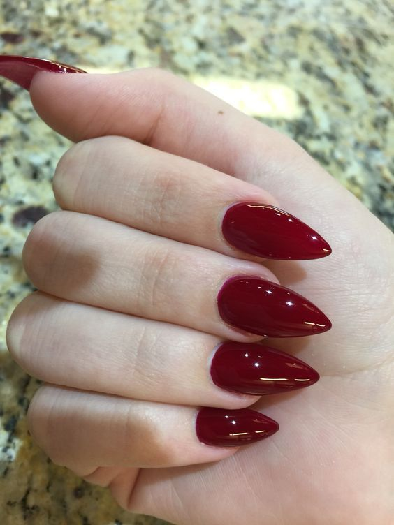 top Wine Nails und Red Nails Polish 2019 • stylisches f9
