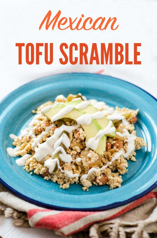 This Mexican Tofu Scramble Is Cooked With Spices Beans