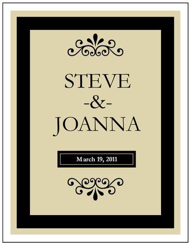 13 best wine bottle labels images on Pinterest Wine bottle - wedding labels template