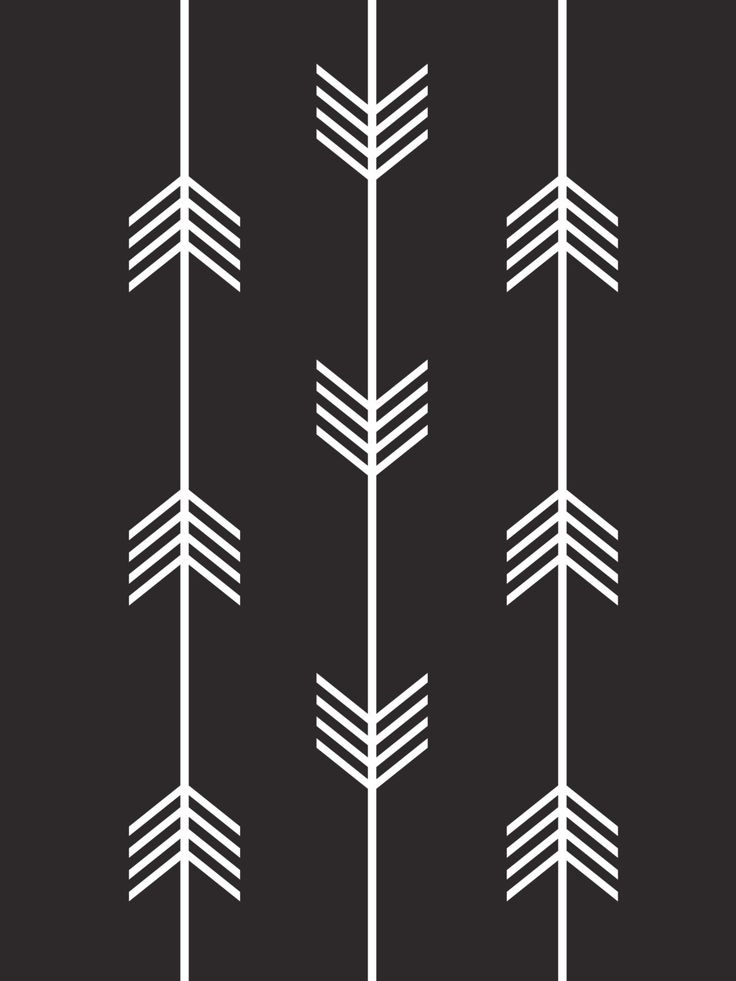 Tribal Arrows Print Black and White by MelindaWoodDesigns on Etsy