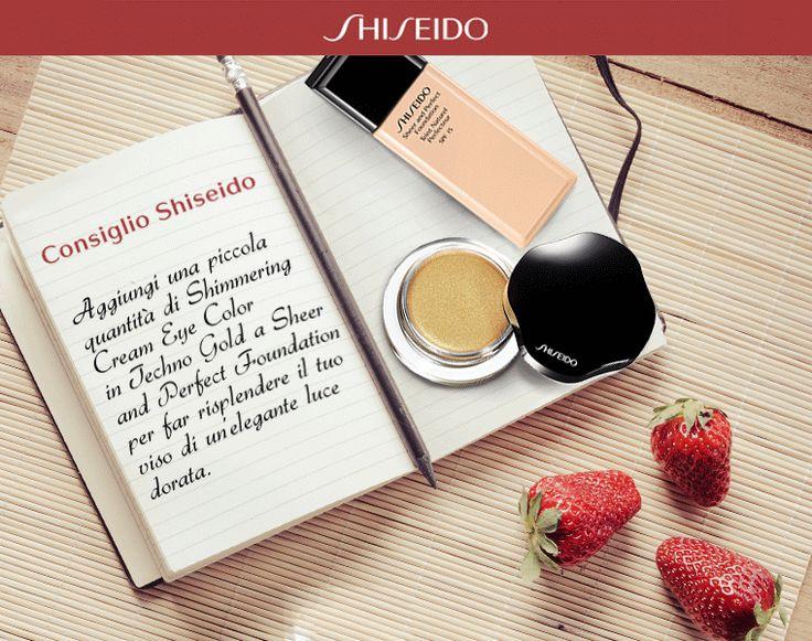 Illumina il tuo #viso con i consigli dei #makeupartist! www.shiseido.it