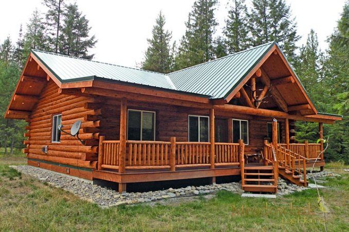 Finally A One Story Log Home Ranch Style That Has It All For 40 000 Adorable Living Spaces Log Homes Exterior Small Log Homes Log Cabin Exterior