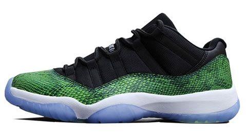 528895-033 Air Jordan 11 Low Green Snake Black/Nightshade-White-Volt   $125   http://www.sneakerforsale2014.com/pre-order-528895-033-air-jordan-11-low-green-snake-black-nightshade-white-volt-750.html