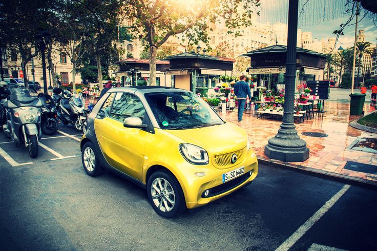 #yellow #smart #car