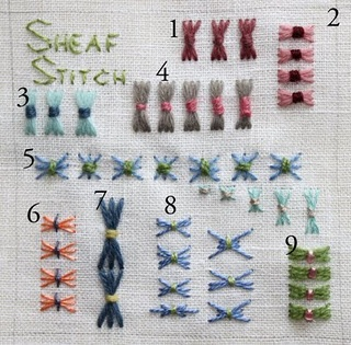 Sheaf Stitch! How to,   Embroidery