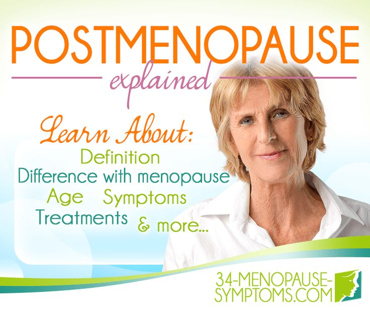 After the menopause transition, symptoms usually disappear, but consistently low hormone levels can bring their own symptoms. Find out more about what to expect during postmenopause.