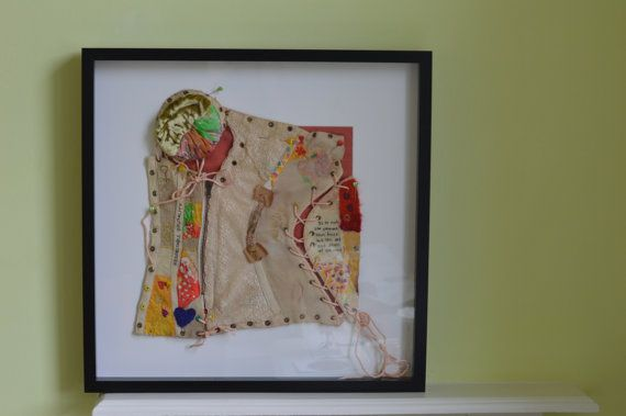 Tied and Tethered a textile study by Manchester based textile artist Cath Carmichael.