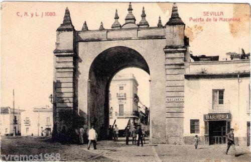 ANTIGUA-POSTAL-DE-SEVILLA-PUERTA-DE-LA-MACARENA