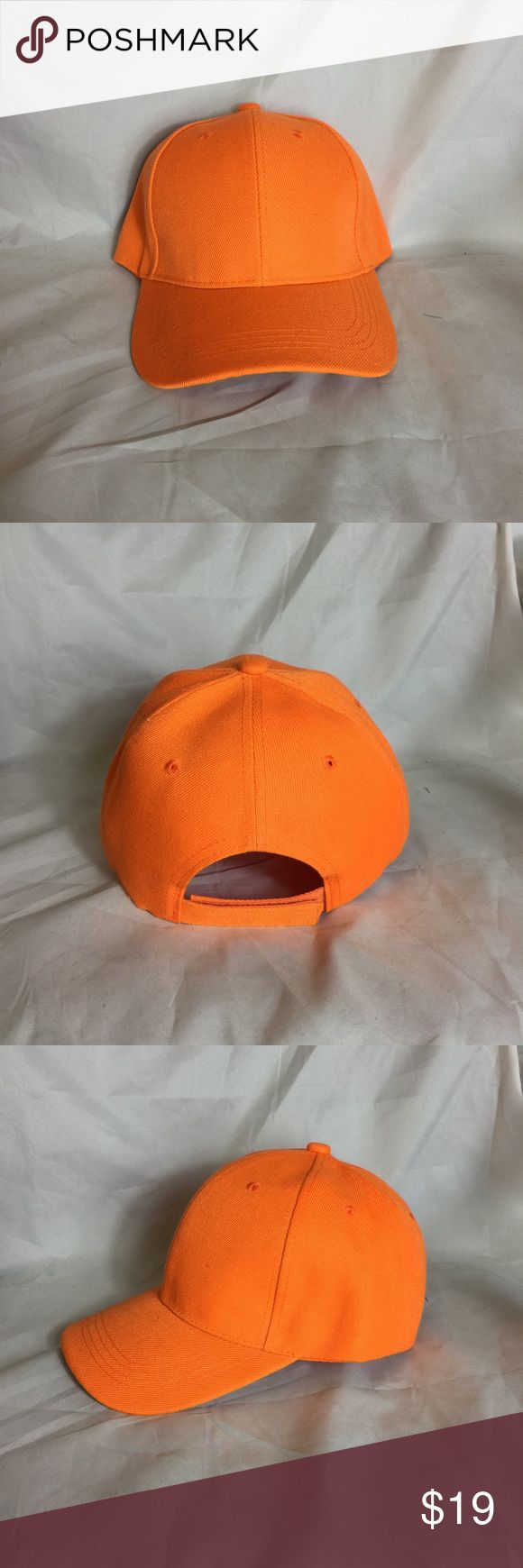 Man/Woman Hats New 🔥 Brand new simple orange hats, great deal!!!! It's summer time, you should get a hat like this lit. 🔥 DOK Accessories Hats