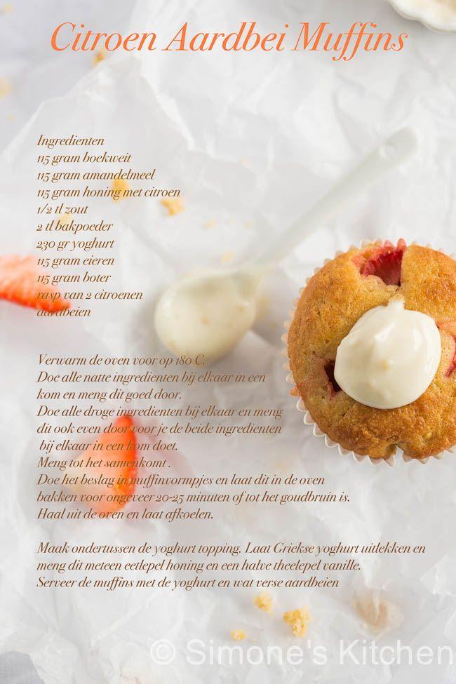 Deze lekkere lente achtige muffins zijn glutenvrij en suikervrij dus kunnen door iedereen (nou ja bijna iedereen) gemaakt worden!