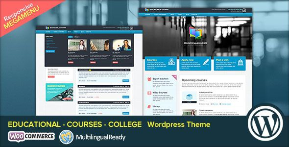 EDU - Educational, Courses, College WP Theme   http://themeforest.net/item/edu-educational-courses-college-wp-theme/5991392?ref=damiamio              EDU is the most awesome WordPress theme suitable for College, Courses, Tutorial sites and Educational. EDU is easy to customize with our SmoothThemes Framework, stToolKit plugin that include a Drag & Drop Page Builder, shortcodes, custom widget, fonts selector to help you easily customize your theme without any coding.       Theme Features…