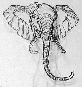 Elephant Wire Sculpture by Elizabeth Berrien by WireZoo on Etsy