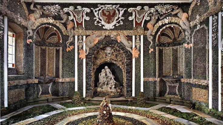 Grotte du Château-Vieux à Bayreuth, Bavière (Allemagne), 1715.