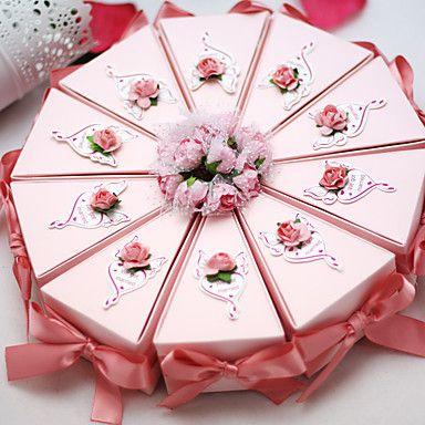 Geschenkboxen(Rosa,Kartonpapier) -Nicht personalisiert-Hochzeit / Jubliläum / Brautparty / Babyparty / Quinceañera & Der 16te Geburtstag 5242853 2017 – €7.83