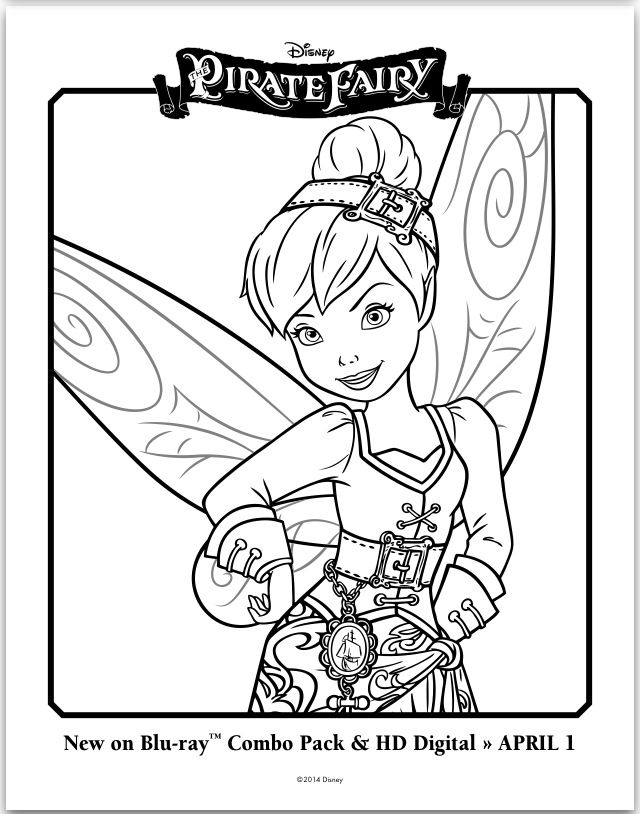Disneys The Pirate Fairy Kids Color Pages And Activities