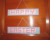 HAPPY EASTER - Banner/Sign by creationsbyjeannie on Etsy, $15.00 USD